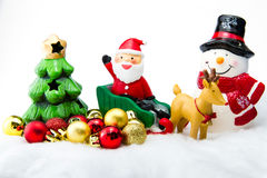 Santa Claus deliver happiness in Christmas day. Stock Photos