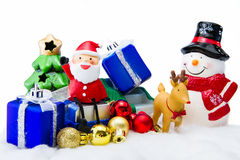 Santa Claus deliver happiness in Christmas day. Royalty Free Stock Image