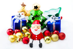Santa Claus deliver happiness in Christmas day. Royalty Free Stock Photo