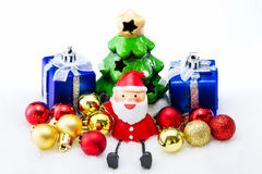 Santa Claus deliver happiness in Christmas day. Royalty Free Stock Photography