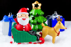 Santa Claus deliver happiness in Christmas day. Stock Images
