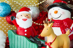 Santa Claus deliver happiness in Christmas day Royalty Free Stock Photography