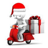 Santa Claus delivering gifts Stock Image