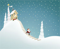 Santa Claus delivering gifts Royalty Free Stock Photo