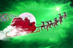 Santa Claus delivering gifts Royalty Free Stock Images