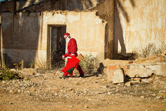 Santa Claus in depression Royalty Free Stock Photos