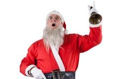Santa Claus, die eine Glocke schellt Stockfoto