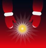 Santa Claus, die einen Stern hält Stockfotos