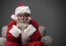 Santa Claus die op Kerstmis wachten Royalty-vrije Stock Foto