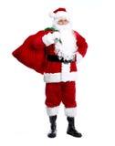 Santa Claus die op wit wordt geïsoleerd. Royalty-vrije Stock Afbeeldingen