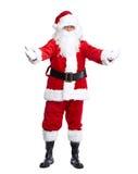 Santa Claus die op wit wordt geïsoleerd. stock foto's