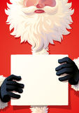 Santa Claus die zingt houden stock foto's