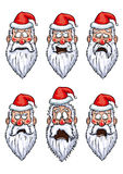 Santa Claus different emotions set Stock Photos