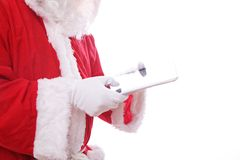 Santa claus digital tablet computer Stock Photography