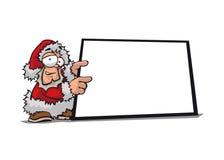 Santa Claus with display Royalty Free Stock Photos
