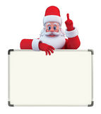 Santa Claus With display board Royalty Free Stock Photos