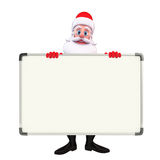 Santa Claus With display board Stock Photo