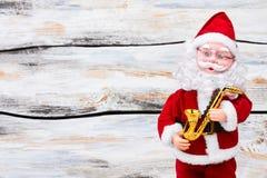 Santa Claus docka och kopieringsutrymme Royaltyfri Foto