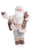 Santa Claus docka som isoleras på vit Royaltyfri Bild