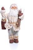 Santa Claus docka som isoleras på vit bakgrund Royaltyfria Foton