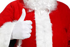 Santa Claus doing the okay sign Royalty Free Stock Photos