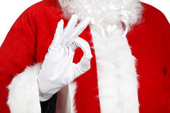 Santa Claus doing the okay sign Stock Image