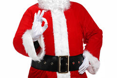 Santa Claus doing the okay sign Royalty Free Stock Photo