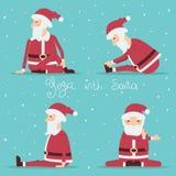 Santa Claus doing yoga.Vector color illustration Royalty Free Stock Photos