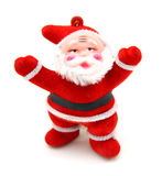Santa Claus doll. Isolated on white background Royalty Free Stock Photos