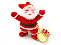 Santa Claus doll. Isolated on white background Stock Images