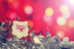 Santa Claus doll with abstract background Stock Photography