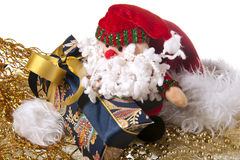 Santa Claus doll an christmas gift Royalty Free Stock Photo