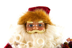 Santa claus doll in closeup Royalty Free Stock Image