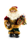 Santa claus doll with lantern and presents Stock Photography