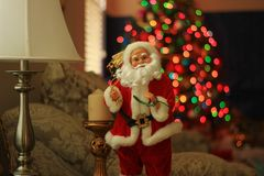 Santa Claus Doll in a Living Room. Close up of a Santa Claus Doll Stock Photography