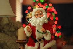 Santa Claus Doll in a Living Room. Close up of a Santa Claus Doll Stock Photo