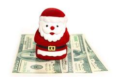 Santa Claus. Is on dollars Stock Photo
