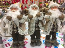 Santa Claus Dolls Lizenzfreies Stockbild