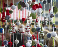 Santa Claus dolls wool Stock Images