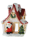 Santa claus dom Obrazy Royalty Free