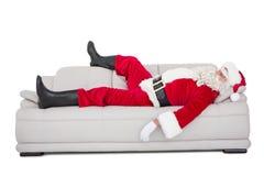 Santa Claus dosypianie na leżance zdjęcia stock