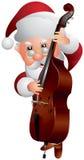 Santa Claus Double bas- spelare stock illustrationer