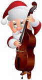 Santa Claus Double bass Player Royalty Free Stock Photo