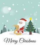 Santa Claus double checking his list. Royalty Free Stock Photography