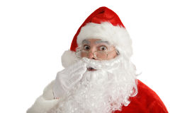 Santa claus dowiedział zdjęcie stock