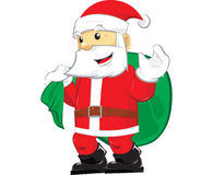 Santa claus dreamstime. Cartoon illustration Santa Claus, cool cute and fun for Christmass stock illustration