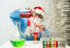 Santa Claus with drinks Royalty Free Stock Photo