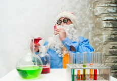 Santa Claus with drinks Royalty Free Stock Image