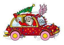 Santa Claus Driver ilustração stock