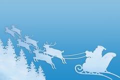 Santa Claus Driving In een Slee stock illustratie